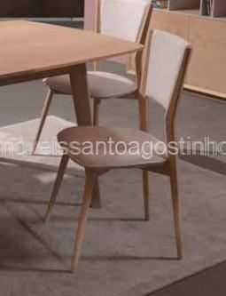 Cadeira de Sala Vertex estofada no assento