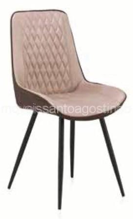 Cadeira Ref. 8386 - Bege e Castanho